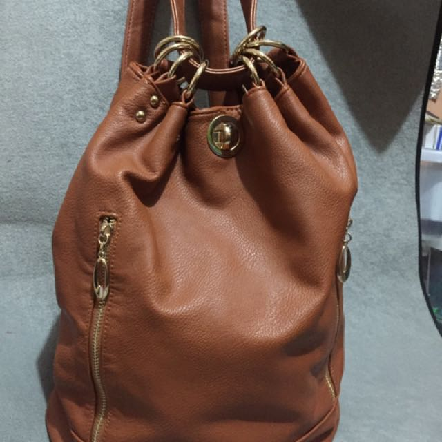 Buckled Womens Bagpack