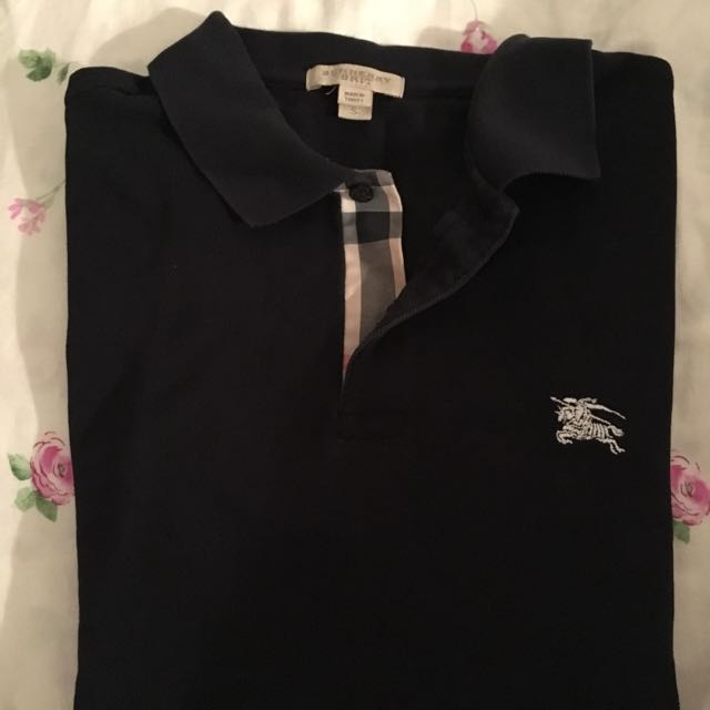 Burberry Polo Shirt Black Size Small