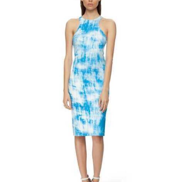 By Johnny Size 10 Blue And White Dress