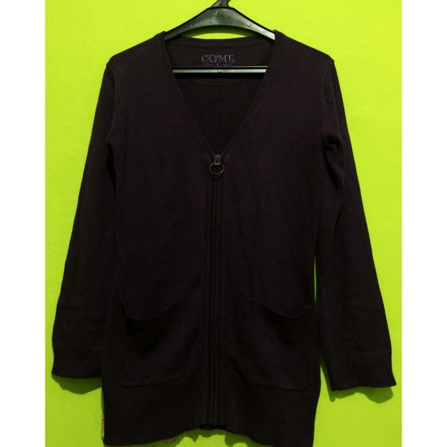 CARDIGAN WOMAN PURPLE