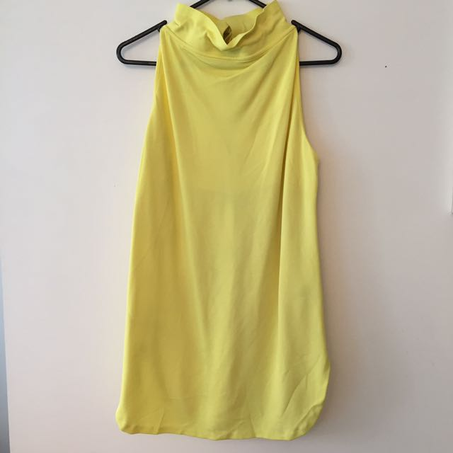 Cos Yellow Turtleneck Top Size XS