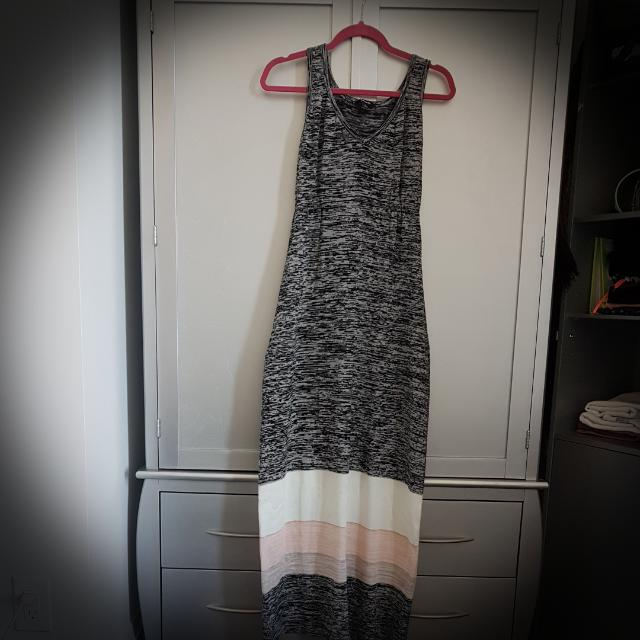 Cotton Colorblock Maxi Dress