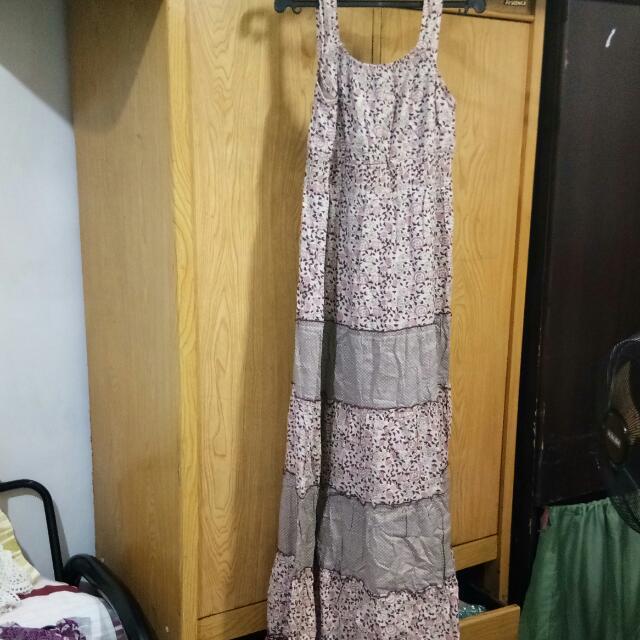 Cotton Pink Floral Dress/Duster