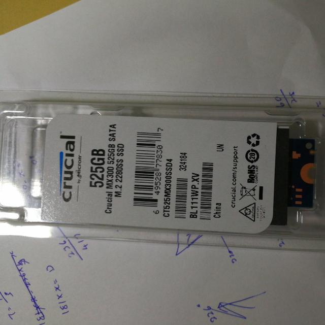 Crucial MX300 525GB M.2 SATA SSD