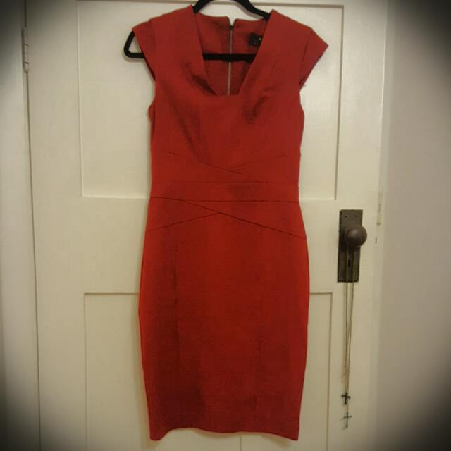 Cue Red Cocktail Dress
