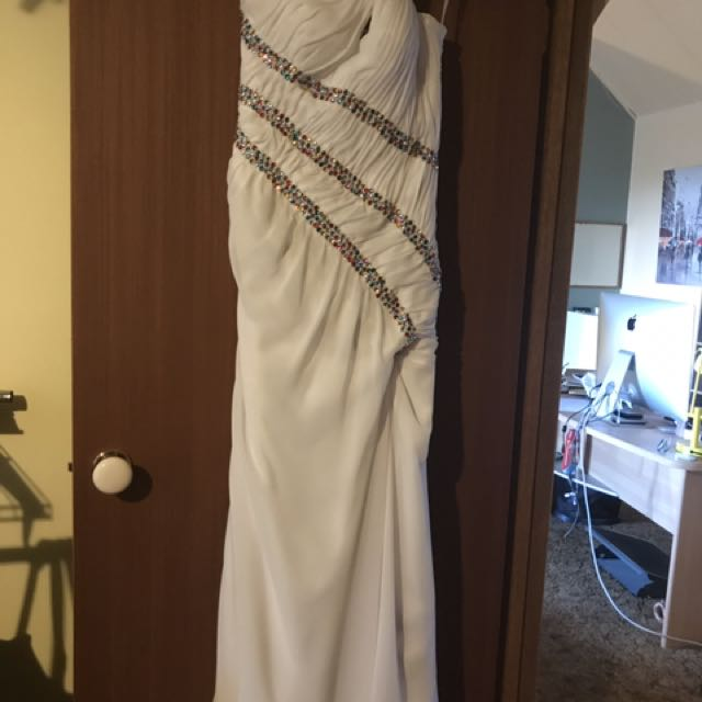 Custom Made White Formal Dress