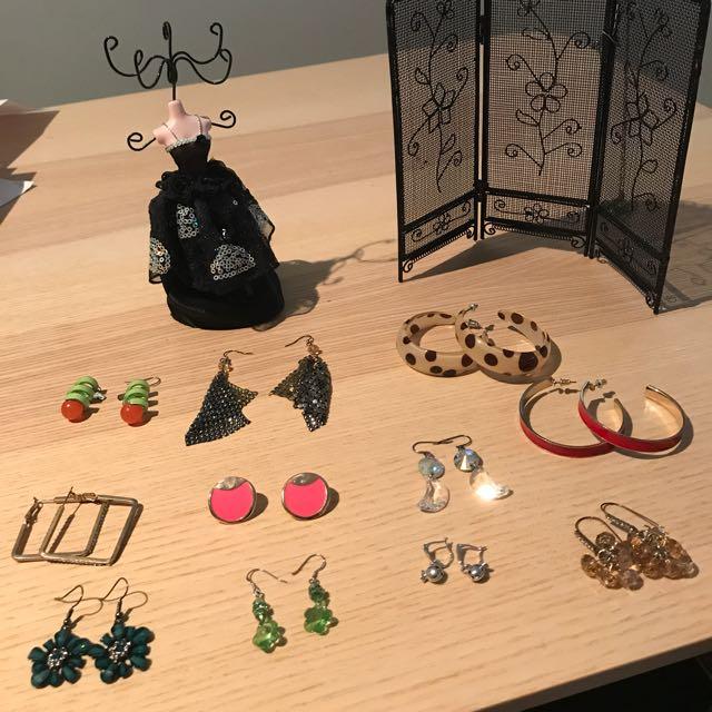 Earring & Earring Holder Bundle Sale