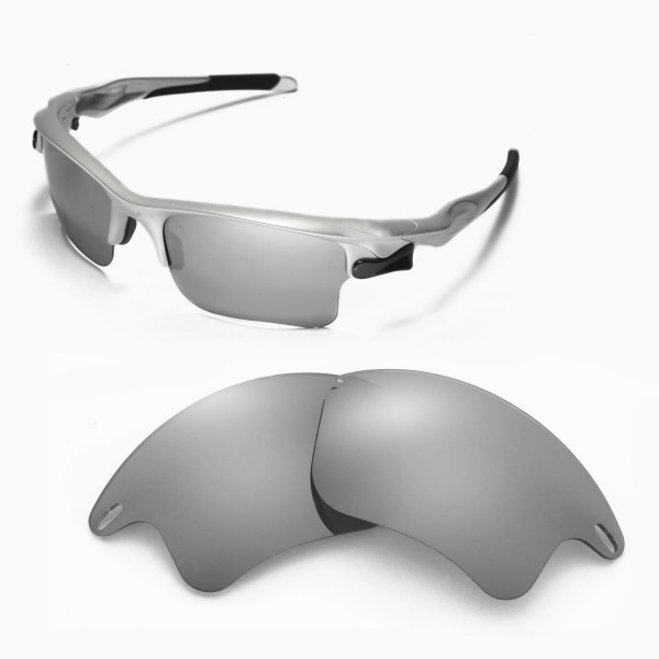 2850feaa82 Fast Jacket Titanium POLARIZED Walleva Replacement XL Lens for Oakley Fast  Jacket Sunglasses