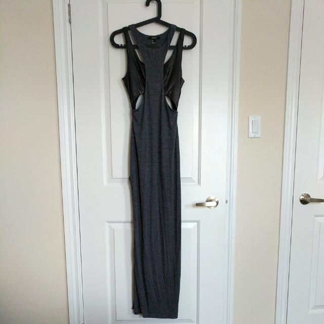 Floor Length Cut Out Dress With High Side Slit
