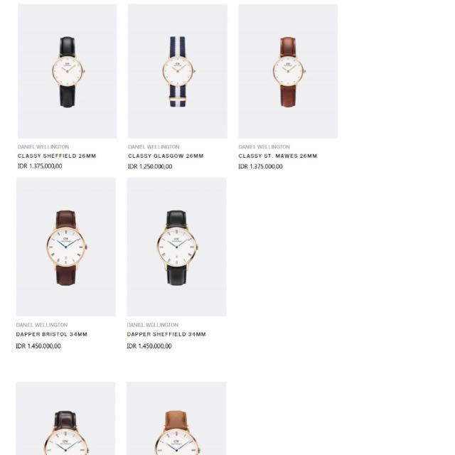 For Sale Daniel Wellington Watches