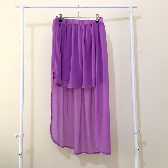 Forecast Lavender Mullet Skirt