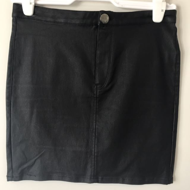 Goldie Leather Look Skirt