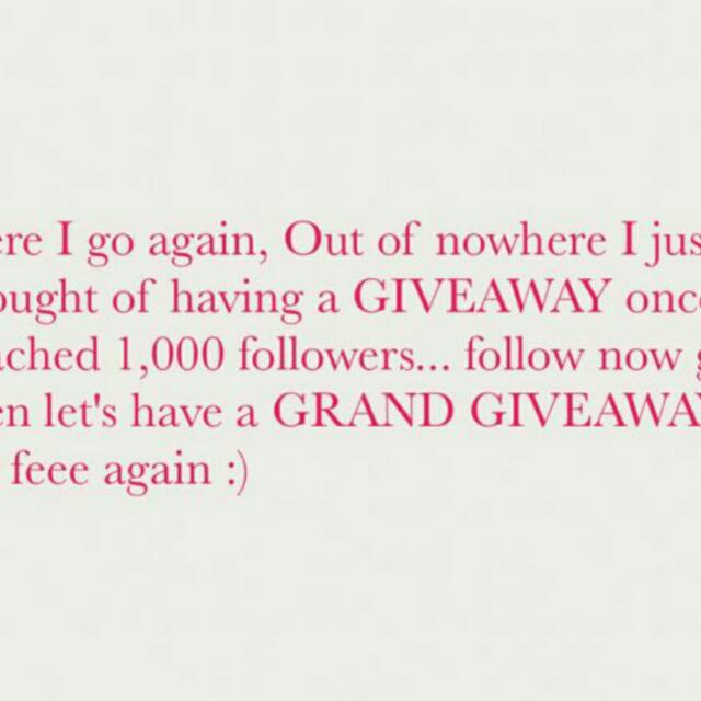 GRAND GIVEAWAY of sis @yngdz Please Follower Her..