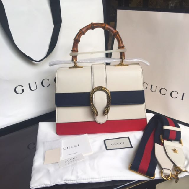 Gucci Dionysus Bamboo Handle Leather