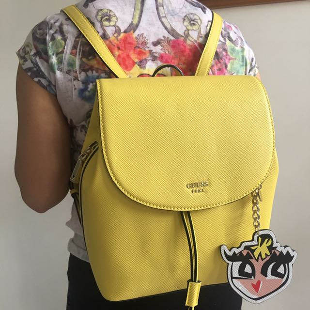 01e26604f22 GUESS Back Pack - Yellow, Women s Fashion, Bags   Wallets on Carousell