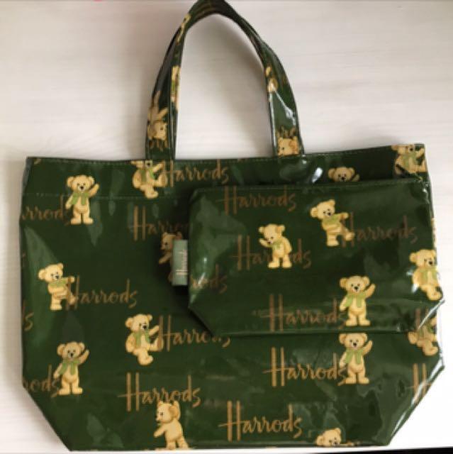Harrods 防水購物袋