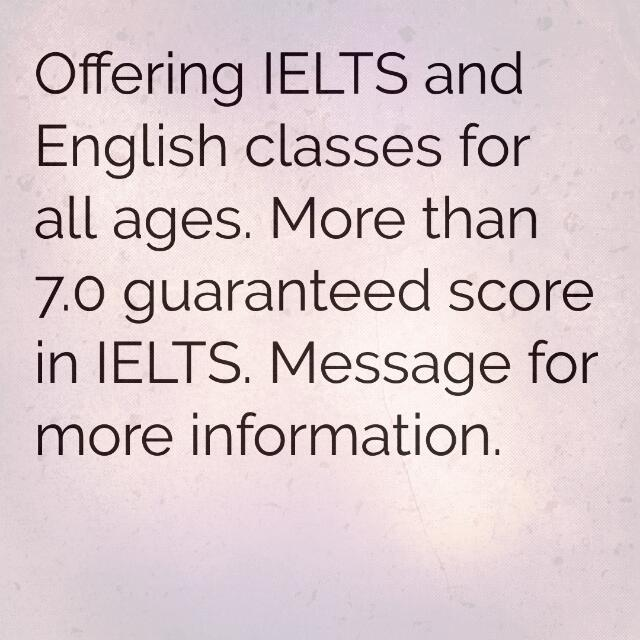 IELTS and English Tuition/Classes for All Ages