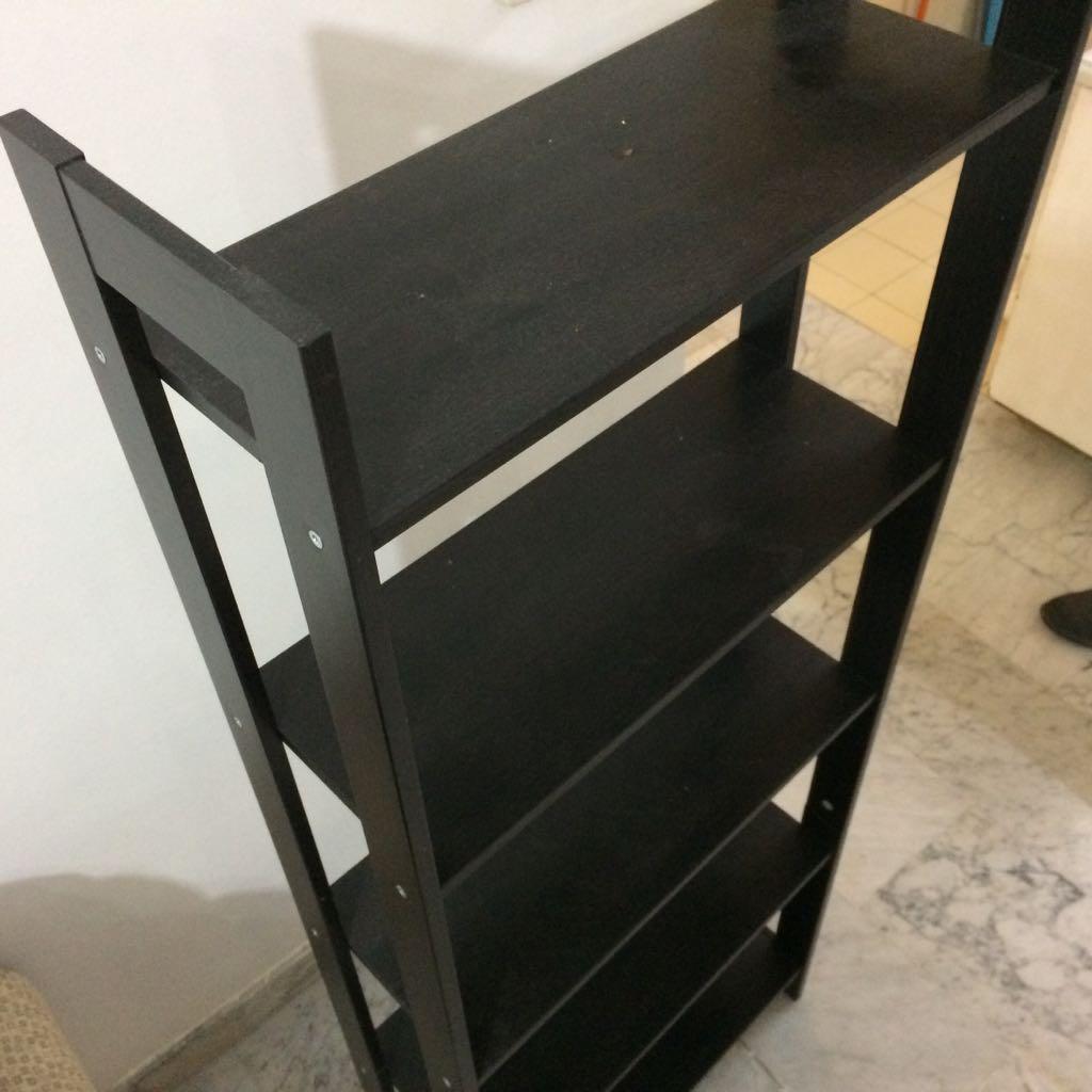 IKEA Wooden Bookshelves.