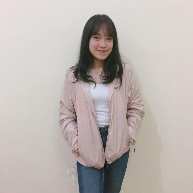 Jaket Parasut Pink
