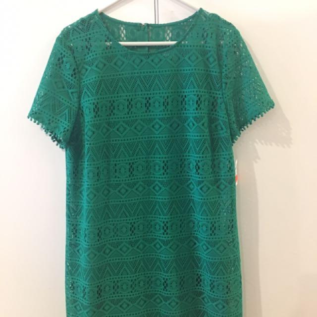 Jayjay Laced Green Dress