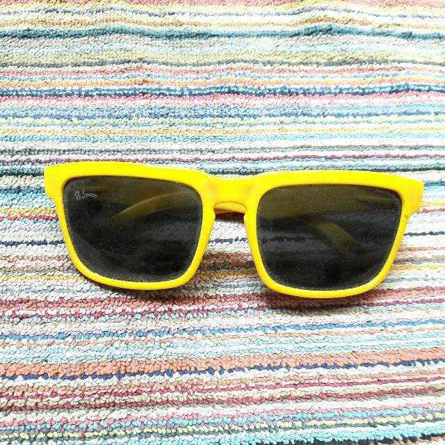 Kacamata Hitam Unisex Kuning Sunglasses Kaca Mata