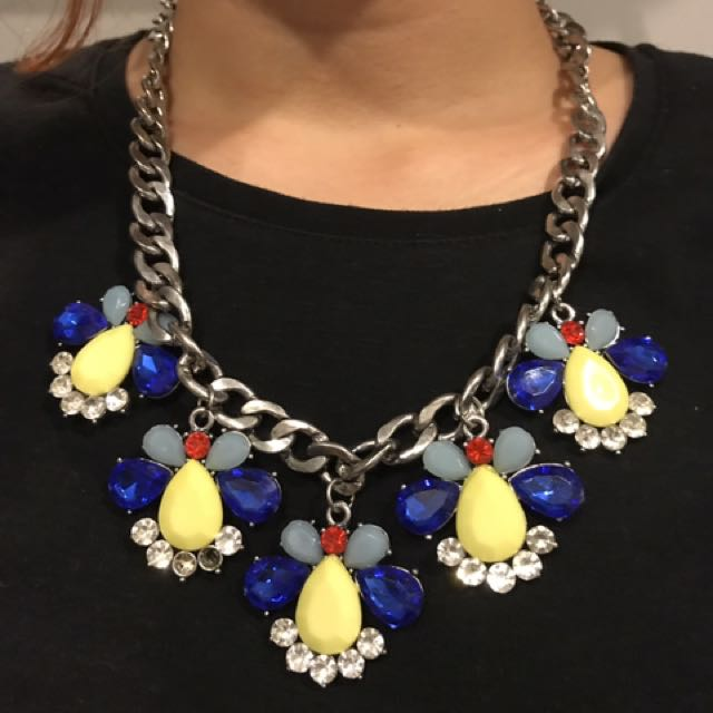 Kalung Batu Kuning Biru