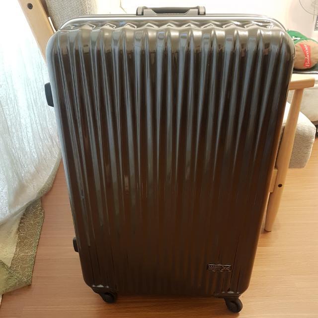 英國KANGOL 光雕冰錐系列 輕量PC鏡面鋁框旅行箱26吋(附防塵套)