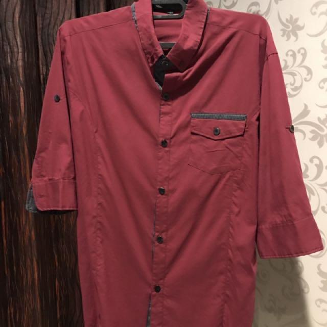 Kengo Red 3/4 Shirt