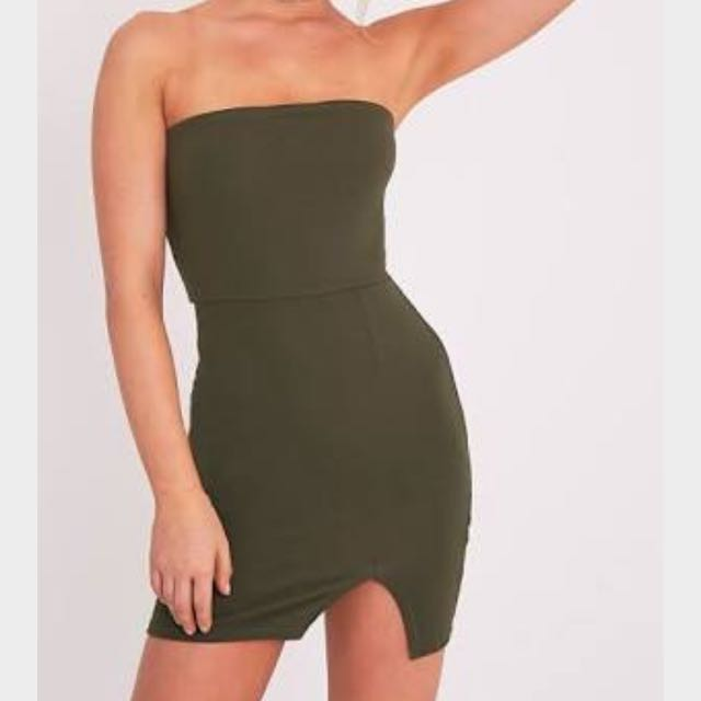Khaki Green Bodycon Dress