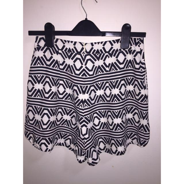 Kookai Monochrome High Waist Shorts