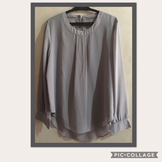 Korean Sheer Long Sleeves (Gray)