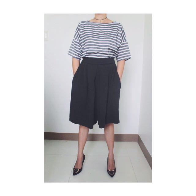 Loose Stripes Top & Culotte Shorts