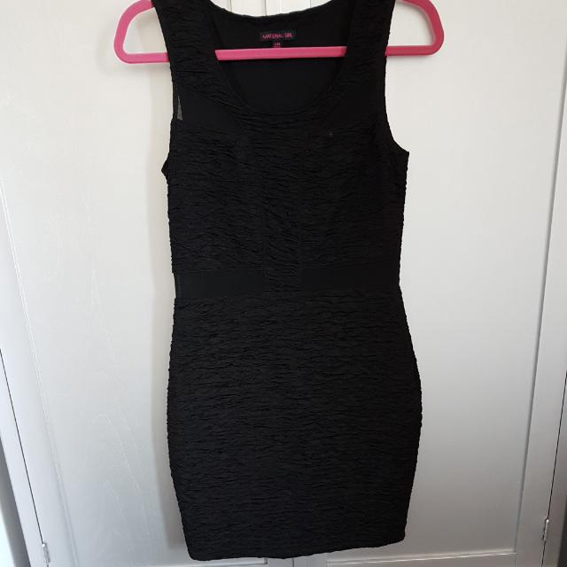 MaterialGirl Black Peek-a-boo Dress
