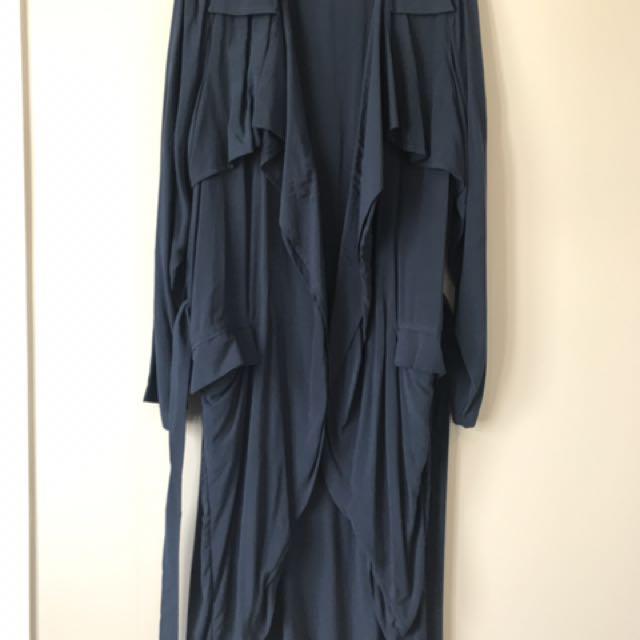 Native Youth Navy Long Coat
