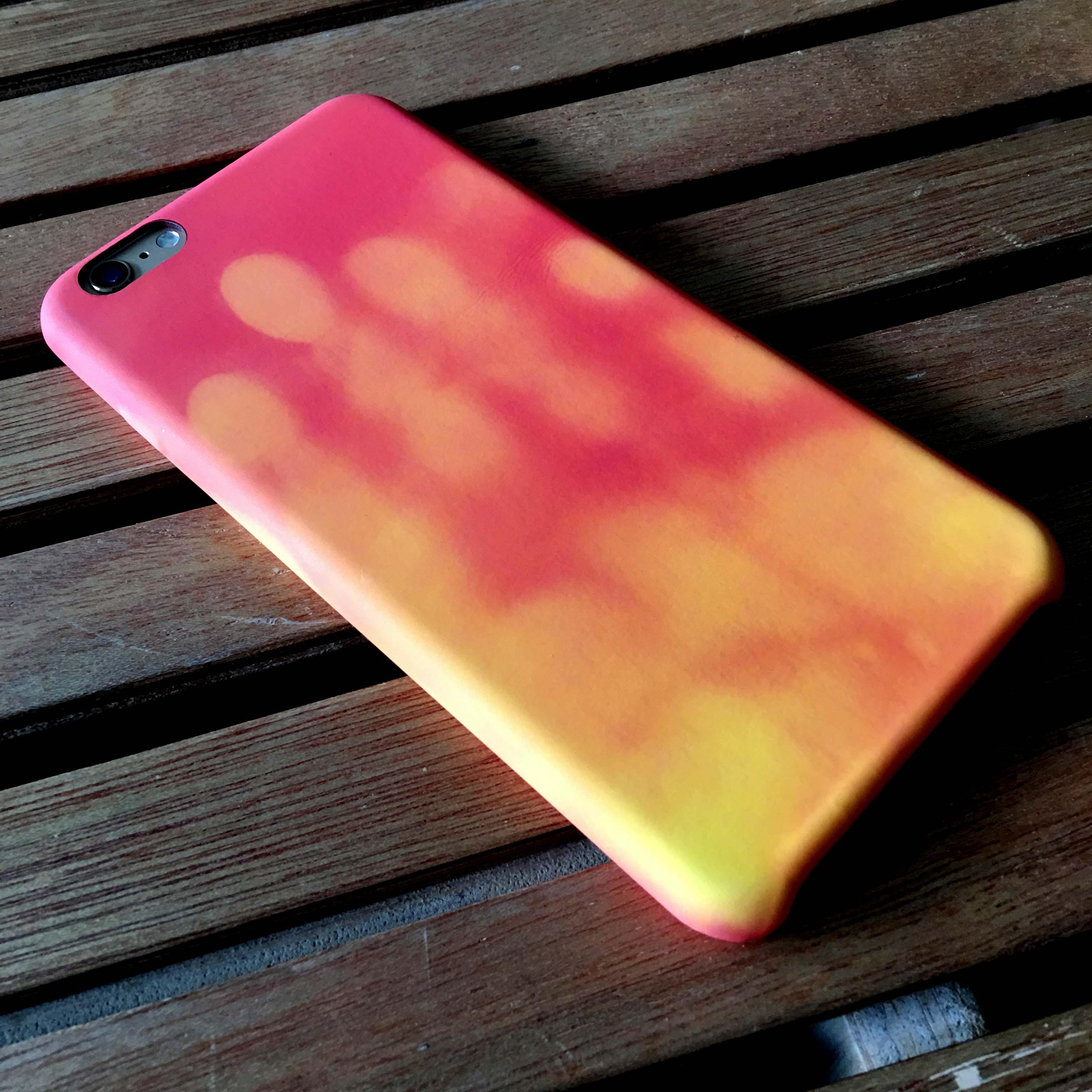 NEW! iPhone 6 plus case thermal heat senstive