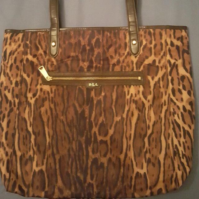 NEW Ralph Lauren Leopard Tote Bag