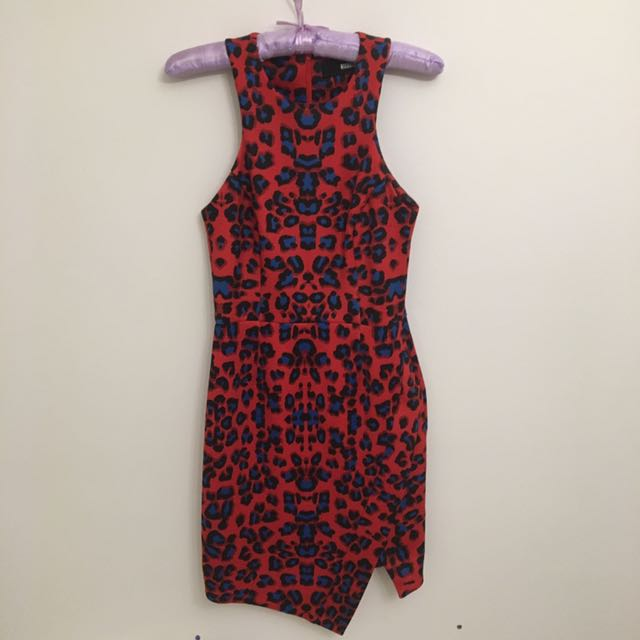Nicholas Red Leopard Print Dress