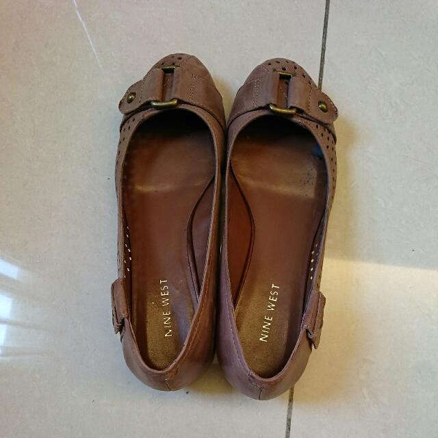 Nine West全皮娃娃鞋(23.5)