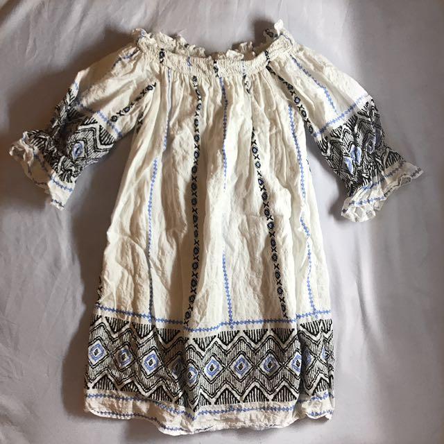 OFF SHOULDER TSHIRT DRESS
