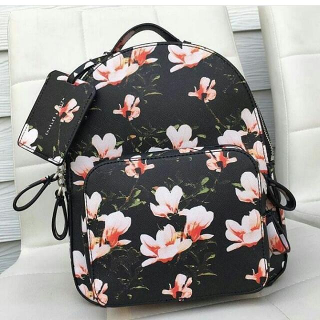 ORIGINAL Charles & Keith Flower Backpack