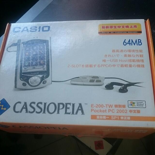 pda Casio E200 原盒 usb底座(可接鍵盤) usb連接器 皮套