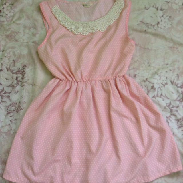 Pearl Polka Dress