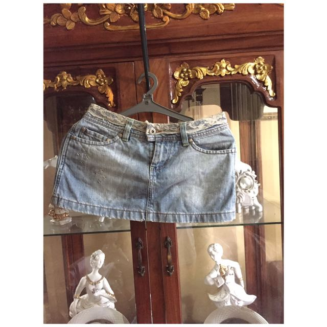 Petimonde Denim Mini Skirt