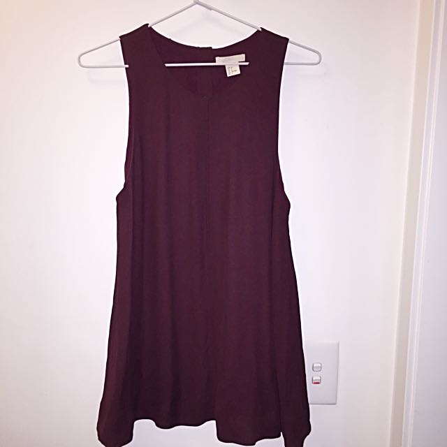 Plum Sleeveless Top