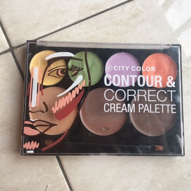 Preloved Authentic City Color Contour&correct Cream Pallete