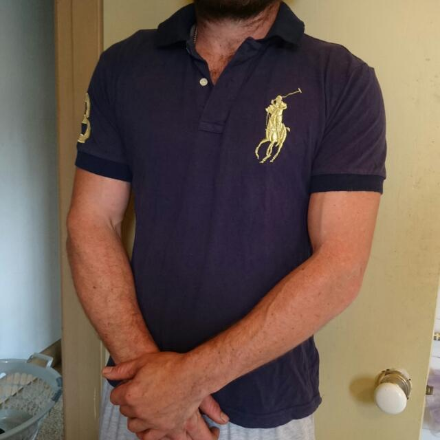 Ralph Lauren Polo With Large Gold Pony