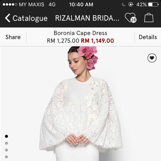 Rizalman Boronia Cape Dress - FOR RENT