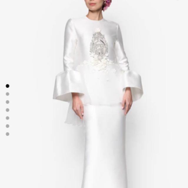 Rizalman Camellias Puff Dress - FOR RENT