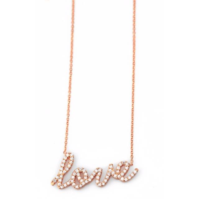 🎁FREE GIFT WITH THIS PURCHASE🎁 Rose Gold LOVE Necklace