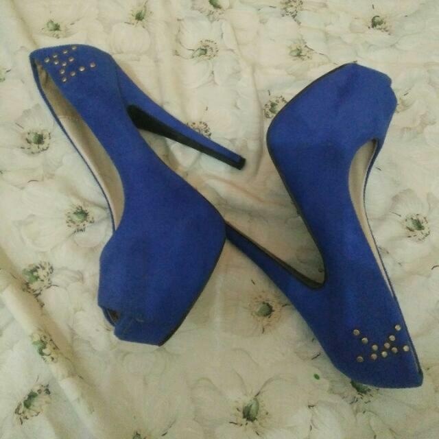 royal blue high heels
